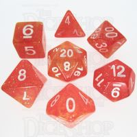 TDSO Galaxy Glitter Red & Yellow 7 Dice Polyset