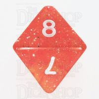 TDSO Galaxy Glitter Red & Yellow D8 Dice