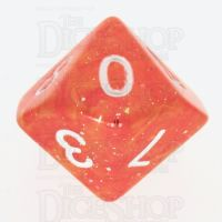 TDSO Galaxy Glitter Red & Yellow D10 Dice