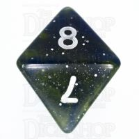 TDSO Galaxy Glitter Blue & Yellow D8 Dice