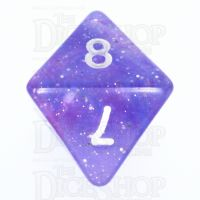 TDSO Galaxy Glitter Blue & Purple D8 Dice