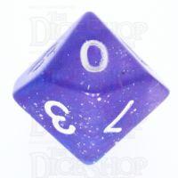 TDSO Galaxy Glitter Blue & Purple D10 Dice