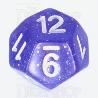 TDSO Galaxy Glitter Blue & Purple D12 Dice