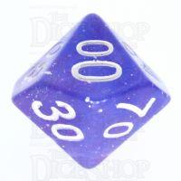 TDSO Galaxy Glitter Blue & Purple Percentile Dice