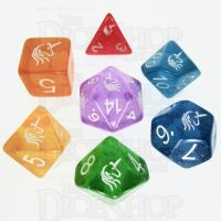 TDSO Light Unicorn 7 Dice Polyset