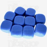 TDSO Opaque Blank Blue 16mm 10 x D6 Dice Set
