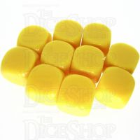TDSO Opaque Blank Yellow 16mm 10 x D6 Dice Set