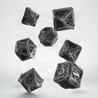 Q Workshop Call of Cthulhu Metal 7 Dice Polyset