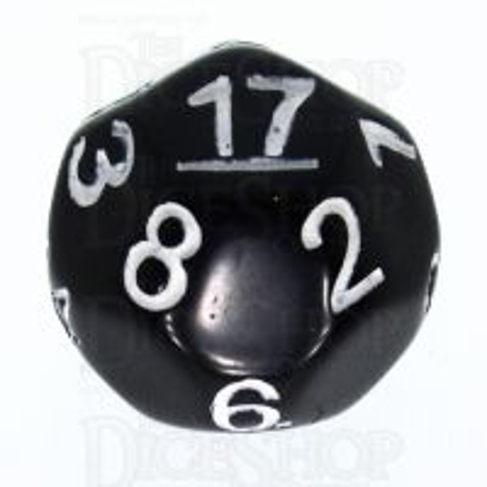 Impact Opaque Black & White D17 Dice