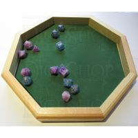 HALF PRICE TDSO Wooden Octagonal 12 Inch Wooden Dice Tray