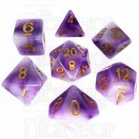 TDSO Jade Purple & Gold 7 Dice Polyset
