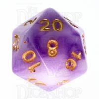 TDSO Jade Purple & Gold D20 Dice