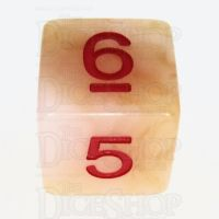 TDSO Jade Ivory & Red D6 Dice