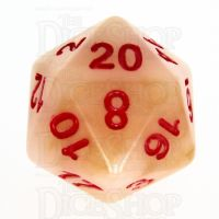 TDSO Jade Ivory & Red D20 Dice