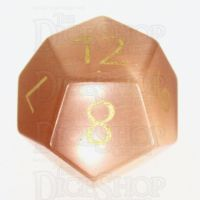 TDSO Cats Eye Champagne with Engraved Numbers 16mm Precious Gem D12 Dice