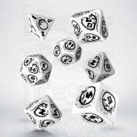 Q Workshop Dragon White & Black 7 Dice Polyset