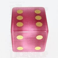 TDSO Cats Eye Pink with Engraved Spots 16mm Precious Gem D6 Dice
