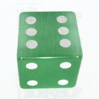 TDSO Cats Eye Light Green with Engraved Spots 16mm Precious Gem D6 Dice