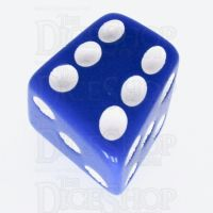 Tessellations Opaque Blue Skew D6 Spot Dice