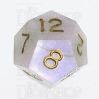 GameScience Permafrost Gold Ink D12 Dice
