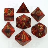 Chessex Scarab Scarlet 7 Dice Polyset