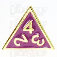TDSO Metal Fire Forge Gold & Purple Enamel D4 Dice