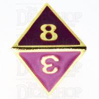 TDSO Metal Fire Forge Gold & Purple Enamel D8 Dice