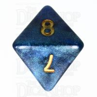 TDSO Galaxy Shimmer Blue & Green D8 Dice