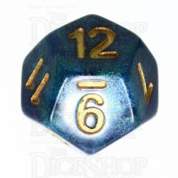 TDSO Galaxy Shimmer Blue & Green D12 Dice