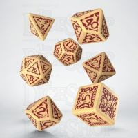 Q Workshop Pathfinder Ironfang Invasion Ivory & Red 7 Dice Polyset