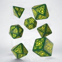 Q Workshop Pathfinder Strange Aeons Green & Yellow 7 Dice Polyset
