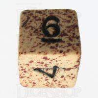 Crit Hit Sandstorm Ceramic D6 Dice