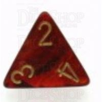 Chessex Scarab Scarlet D4 Dice