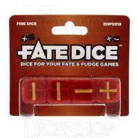 Evil Hat Translucent Fire Red Fudge Fate 4 x D6 Dice Set