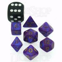 D&G Interferenz Purple MINI 10mm 7 Dice Polyset