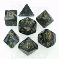 Chessex Lustrous Black 7 Dice Polyset