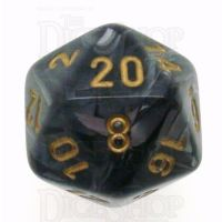 Chessex Lustrous Black D20 Dice