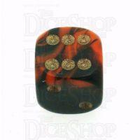 D&G Oblivion Orange & Black 15mm D6 Spot Dice