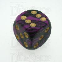 D&G Oblivion Purple & Black 15mm D6 Spot Dice