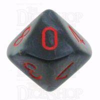 Chessex Velvet Black & Red D10 Dice