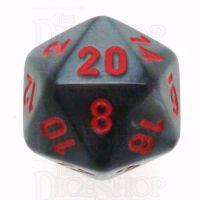 Chessex Velvet Black & Red D20 Dice