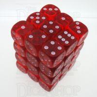 D&G Gem Red 36 x D6 Dice Set