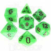 TDSO Pearl Bright Green & Purple 7 Dice Polyset