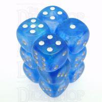Chessex Borealis Sky Blue 12 x D6 Dice Set