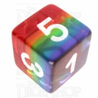 TDSO Layer Transparent Rainbow D6 Dice