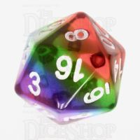 TDSO Layer Transparent Rainbow D20 Dice