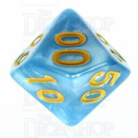 TDSO Pearl Light Blue & Yellow Percentile Dice