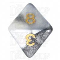 TDSO Duel Steel & White D8 Dice