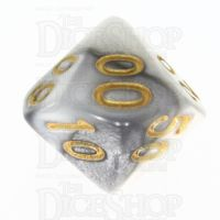TDSO Duel Steel & White Percentile Dice