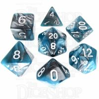 TDSO Duel Steel & Teal 7 Dice Polyset